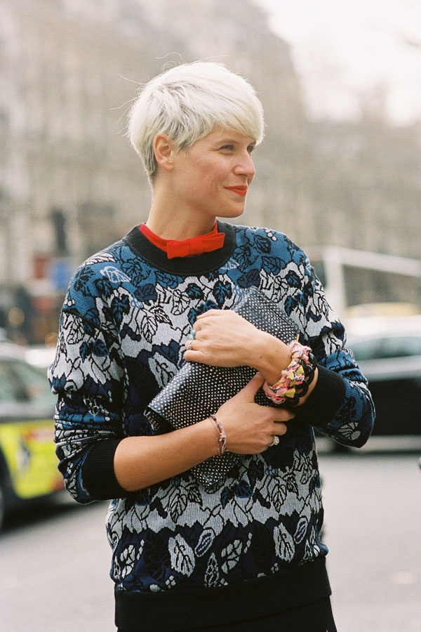 : Fashion Haven, Elisa Nelin, Paris Fashion Week, Shorts Hair, Street Style, Aw 2012 Elisa, Paris Street, Fashion Inspiration, Elisa Nalin