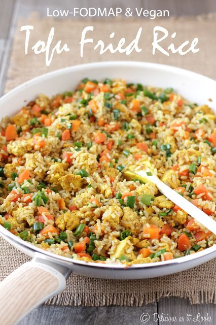 Low-FODMAP & Vegan Tofu Fried Rice  /  Delicious as it Looks
