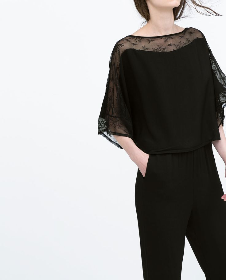 Image 3 of COMBINED TULLE JUMPSUIT from Zara