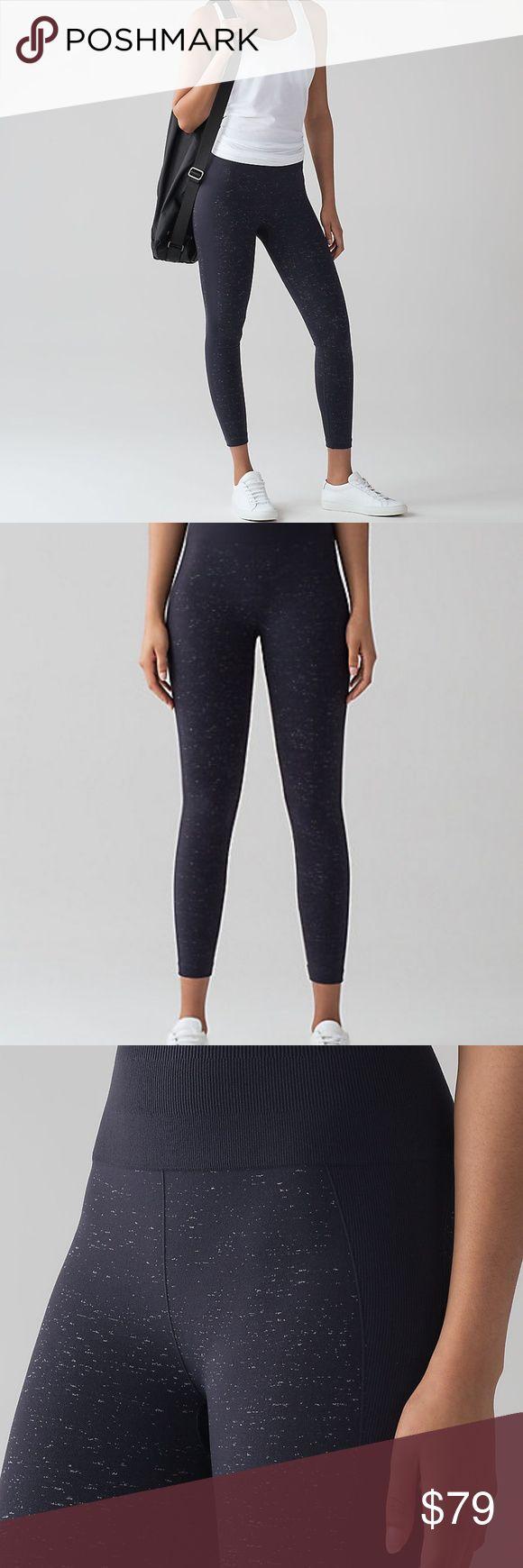 39f6a16f89 Lululemon Free to Flow 7 8 Yoga Pants Navy NWT