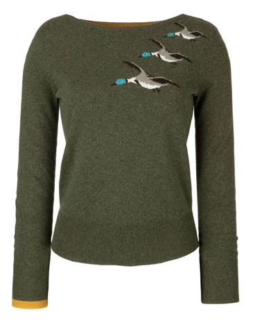 every girl needs a duck on her sweater- or  three