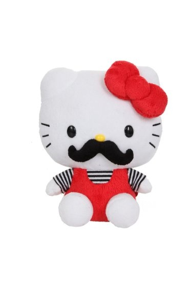 "Amazon.com: Hello Kitty Mustache 7"" Plush: Clothing"