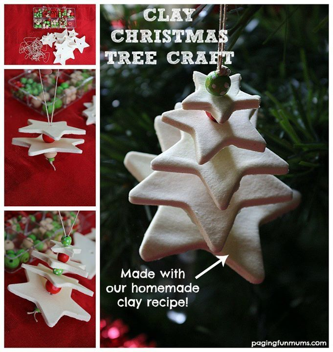 I know we have only JUST shared an adorable Christmas Tree Ornament.. but just had to share this wonderful today with you too - made from HOME MADE WHIT CLAY, these star based Christmas Tree Ornaments are simply beautiful. I…
