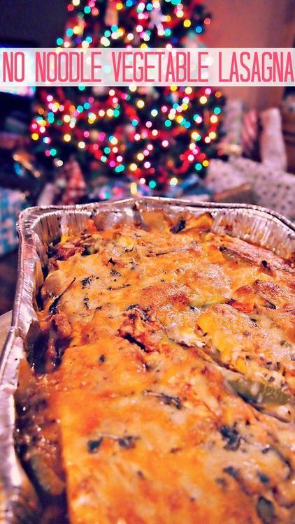 125 calorie no noodle vegetable lasagna.