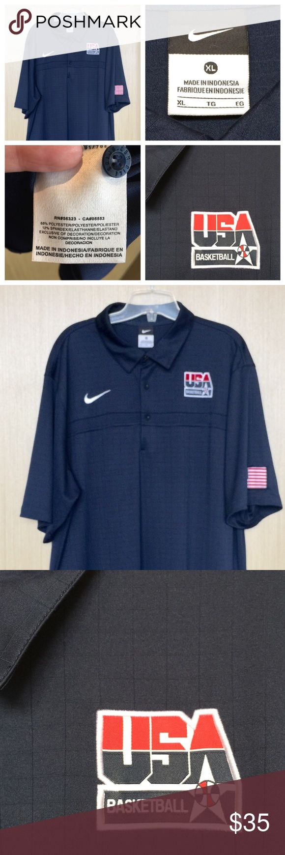 Official Nike USA Basketball Polo   Get ready to cheer the USA Basketball team on to GOLD at the OLYMPICS!   This official USA BASKETBALL Nike polo shirt was given to me by the women's team staff as a gift for some work I did for them at the World Championships in 2010 in the Czech Republic but I never wear it because the style doesn't suit me (I have other swag from them I like better)   This is a unisex XL polo shirt made of 88% Poly and 12% Spandex. NO TRADES   Free Beauty Sample With…
