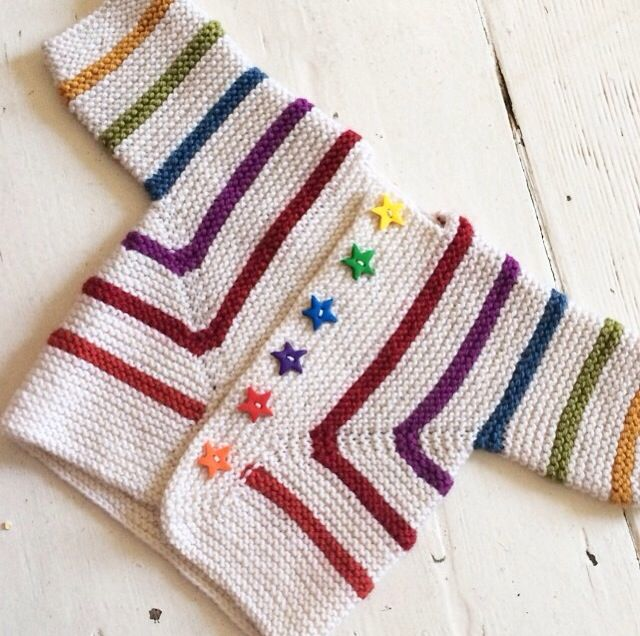 Colours idea (this is knitted from Elizabeth Zimmerman's Baby Surprise Jacket…