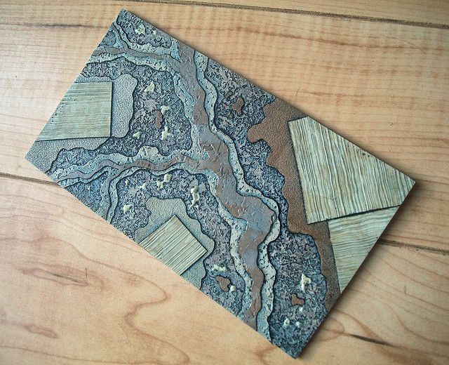 https://flic.kr/p/7NQsBo | layers 4 collagraph plate | The collagraph plate from the 4th in a series made from discarded wallpaper samples.