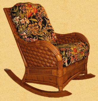 Bombay Rattan Rocking Chair via @wickerparadise #rockingchair #rattan www.wickerparadise.com