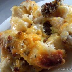 Country Gravy Breakfast Casserole.  I made homemade sausage gravy.  Delicious!