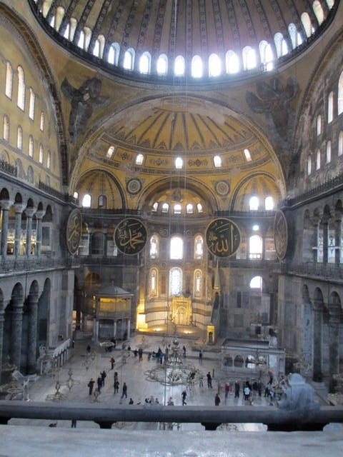 Inside the Aya Sophia