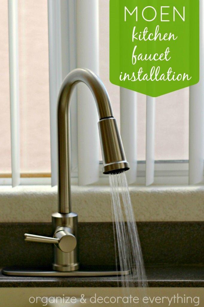 Moen Kitchen Faucet Installation Diy Home Pinterest Kitchen
