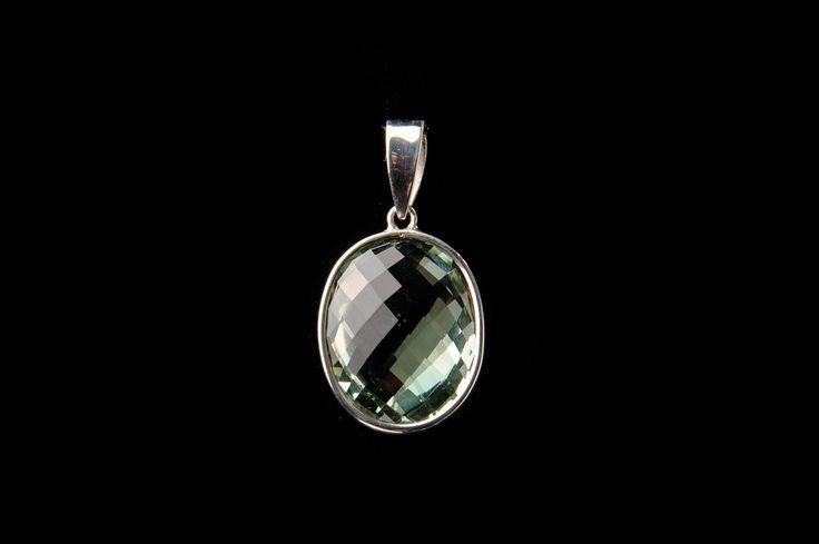 LAYNE green amethyst pendant.