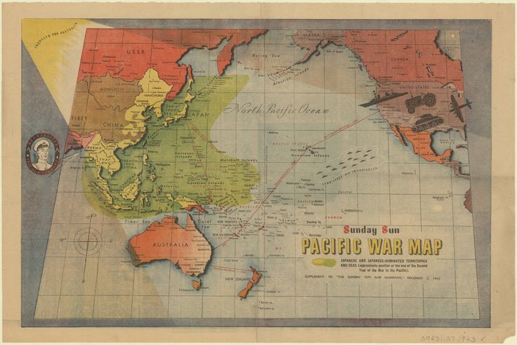 Pacific war map. Supplement to the Sunday sun and guardian, December 5, 1943
