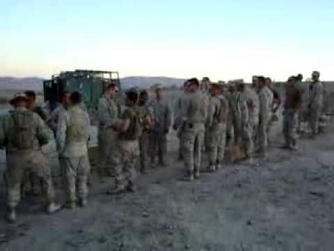 """US Marines sing """"Build Me Up Buttercup"""" - this just makes me smile. Despite all the stress they are under, you see their ability to CHOOSE JOY in the middle of the desert."""