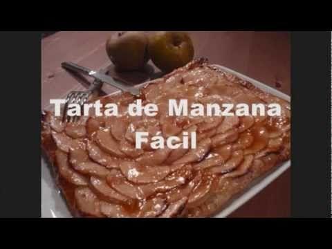 Receta de Tarta de Manzana Fácil (con crema pastelera)
