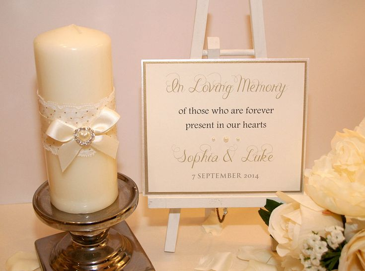 In Loving Memory Candle And Sign Jpg 1800