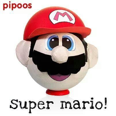Sinterklaas surprise Super Mario by pipoos. Styropor ball, felt, foam and paint.
