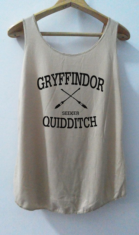 Gryffindor Shirt Quidditch Tank Top Pop Punk Rock Tank Top Vest Women T shirt Harry Potter T-Shirt SizeS,M,L