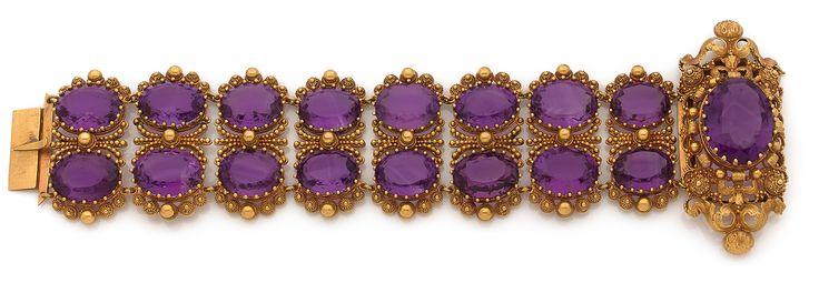 Lot : ANNEES 1820  - BRACELET AMETHYSTES  - Il se compose de deux rangs d'améthystes[...] | Dans la vente Importants Bijoux - Première Partie à Tajan