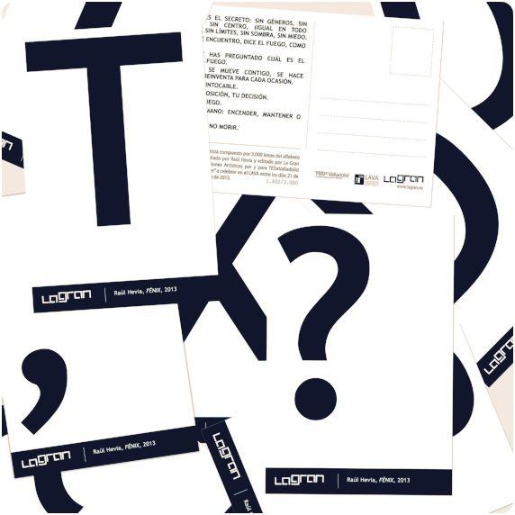 """""""Fenix"""" de Raúl Hevia. Libro de Artista en postales para #TEDxValladolid 2013 realizado en el  LAVA (Laboratorio de las artes de las artes de #Valladolid)"""