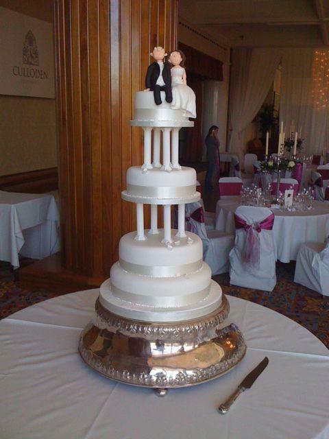 pillar wedding cakes | four tier wedding cake with 5 inch pillars cup cakes & 87 best Pillar Wedding Cakes images on Pinterest | Buttercream ...