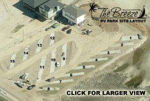 Surfside Beach - Texas RV Parks - RV Site Layout