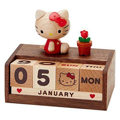 Sanrio Hello Kitty wooden perpetual calendar 2015 NEW/ UNUSED gift