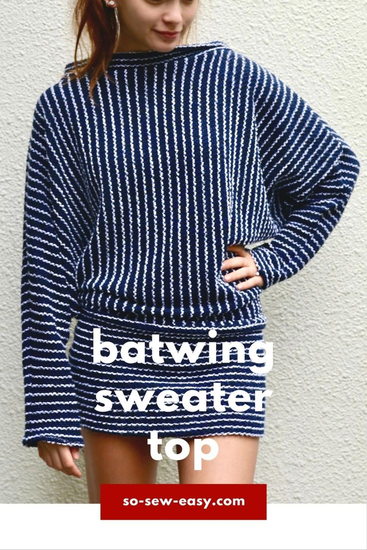 Batwing Sweater free Top Pattern | Craftsy