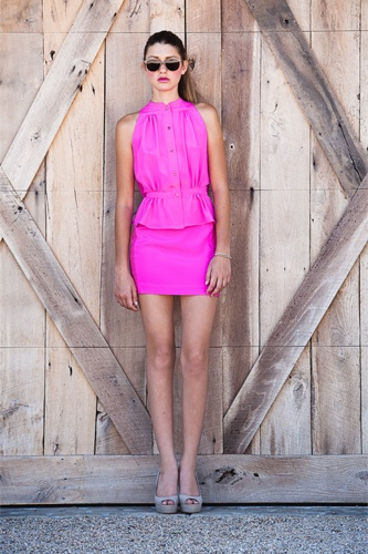 Hot Pink, Yes please! Charles Henry -spring '12 from Meredith Fisher
