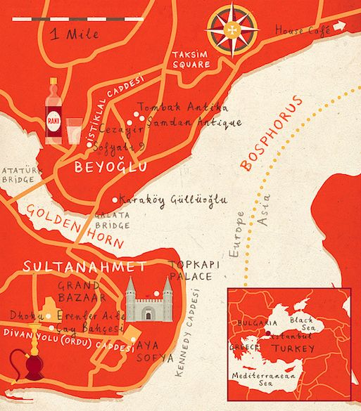 zara-picken-istanbul-illustrated-map1.png 513×585 pixels
