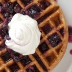 Love this blog's layout - whole wheat waffles from green market baking book