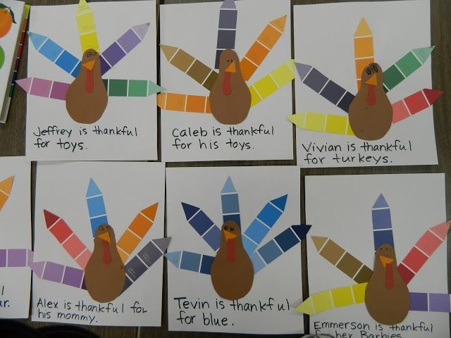 Paint chipthanksgiving turkey craft crafts for kids for Thanksgiving preschool activities and crafts