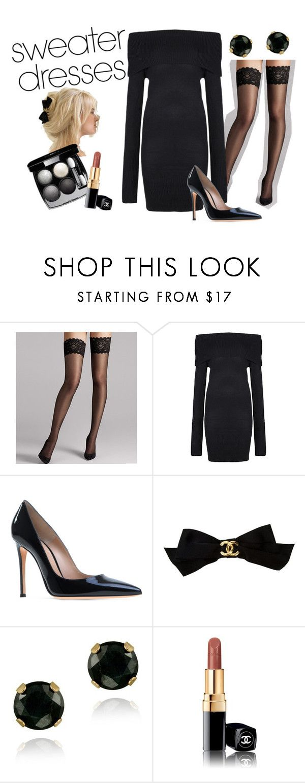 """""Wolf of Wall Street"" inspired"" by ilarial1 on Polyvore featuring moda, Wolford, Chanel e Glitzy Rocks"