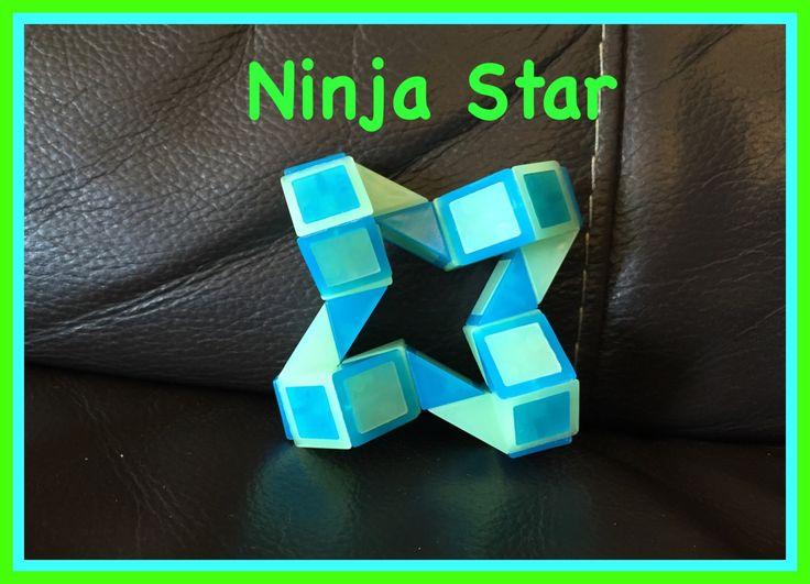 Smiggle Snake Puzzle (Rubik's Twist): How to Make A Ninja Star Shape Tut...