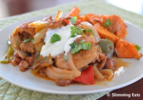Moroccan Chicken with Roasted Sweet Potato | Slimming Eats - Slimming World Recipes