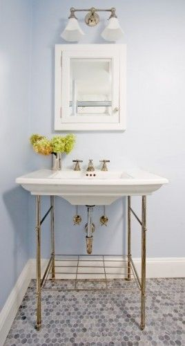Brass Pedestal Apothecary Sink New Bathroom