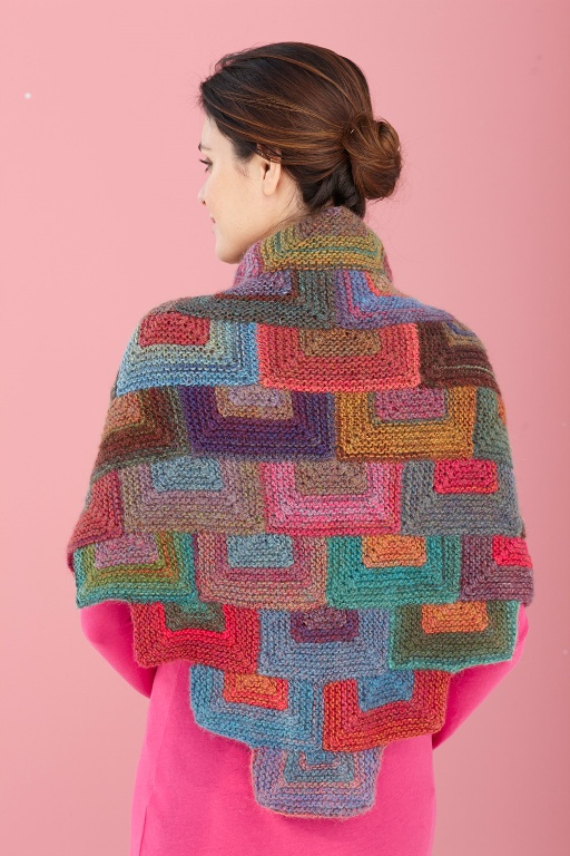 Love this! Done with Lion Brand Amazing yarn; pattern looks simple but such a unique use of shapes.