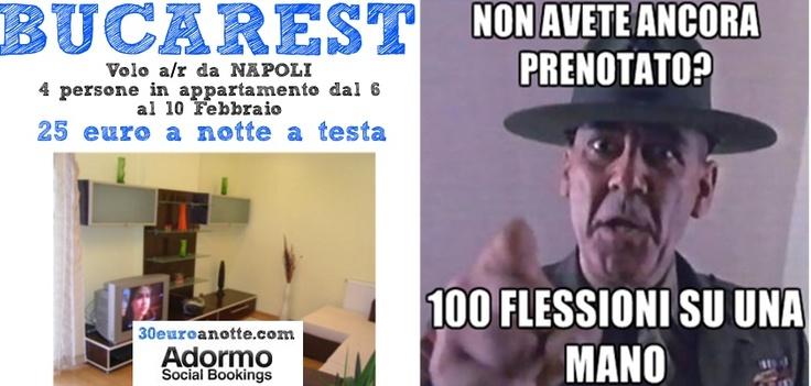 4 PERSONE A BUCAREST, viaggio dal 6 al 10 Febbraio, volo A/R da Pisa + soggiorno in appartamento: 25 € a notte a testa!