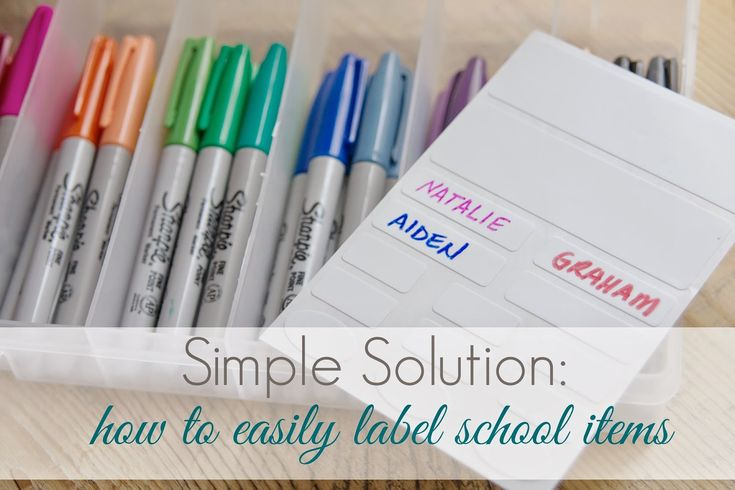 simply organized: Simple Solution: How To Easily Label School Items. Avery Kids labels for fabric and self-laminating labels