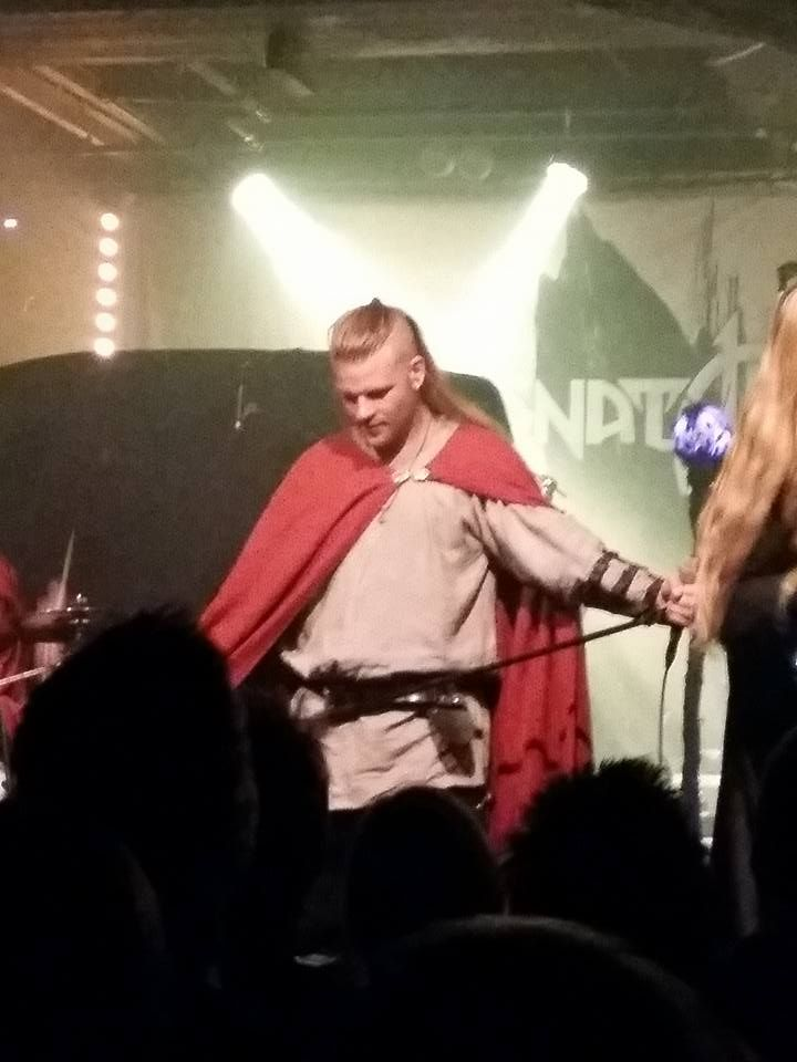 Chrileon - Twilight Force ⚫ Photo by Esther Salari ⚫ Borlänge 2016 ⚫ #TwilightForce #music #metal #concert #gig #musician #Chrileon #singer #vocalist #frontman #singing #microphone #bracers #coat #leather #beard #earrings #blond #longhair #festival #photo #fantasy #magic #cosplay #sword #larp #man #onstage #live #celebrity #band #artist #performing #Sweden #Swedish #Liljan #Borlänge