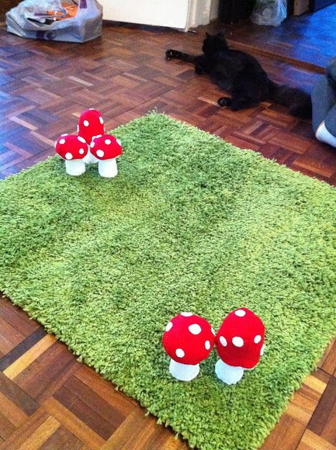 """Pinner wrote """"IKEA Hackers: Woodland Inspired Rug. Need to make this for Autumn's nature themed bedroom.""""   This is ugly and you will scare your child. -SMR"""