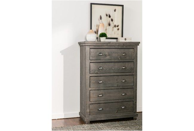 Sinclair Grey Chest Of Drawers - 360