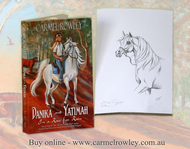 A gift - for the first 30 people who purchase a copy of the new release DANIKA AND YATIMAH IN A RACE FOR RAIN from my website. A drawing copy print of El Muhh  www.carmelrowley.com.au