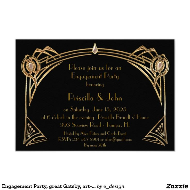 7 best GREAT GATSBY WEDDING Invitations images on Pinterest ...