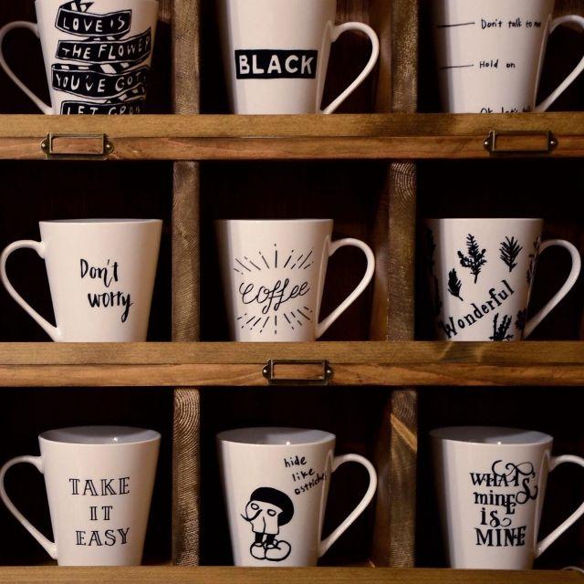 キッチン マグカップ 自作アート 手描きイラスト Diy などのインテリア実例 2015 01 30 15 25 13 Roomclip ルームクリップ マグカップ カップデザイン マグ