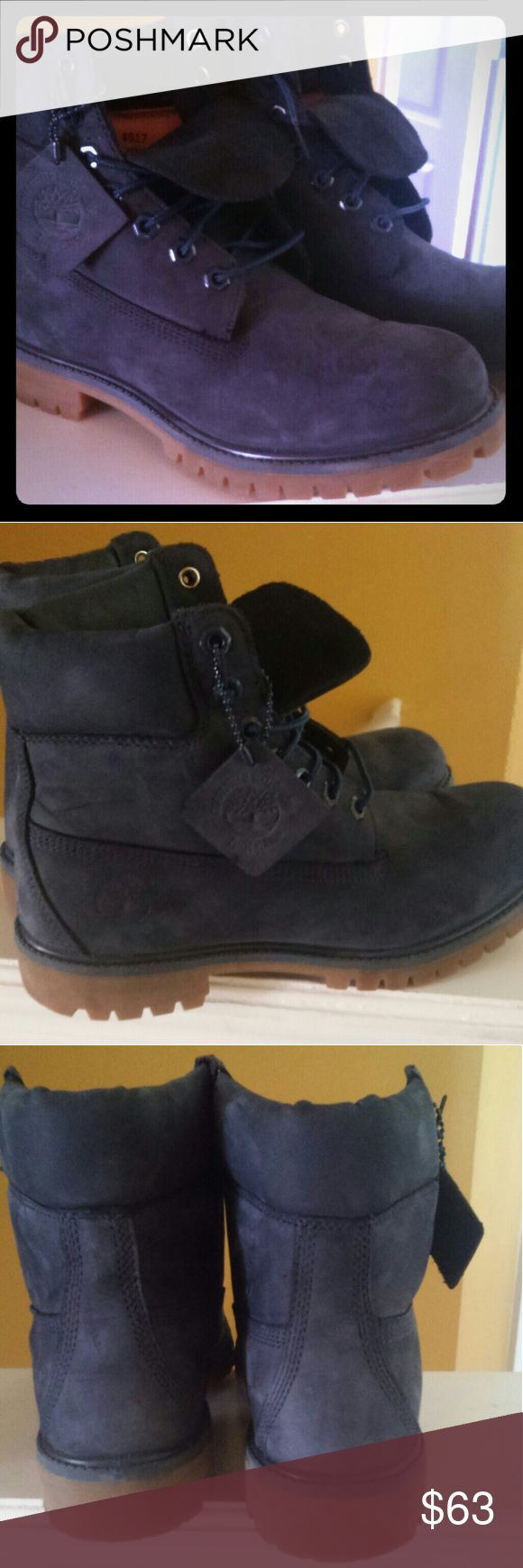 Timberland boots Navy blue size 8 good condition Timberland Shoes Boots