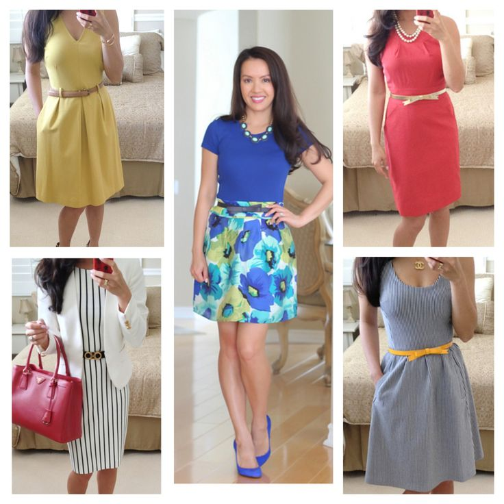 Summer work outfit ideas // Click to see them all:  http://www.stylishpetite.com/2013/07/summer-work-outfits.html