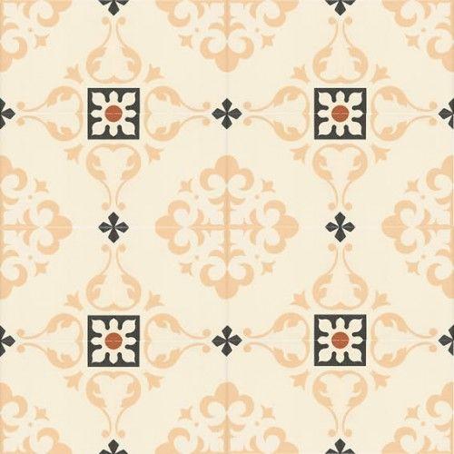 Moroccan Style Glazed Ceramic Salone Beige 20x20x0.9 cm