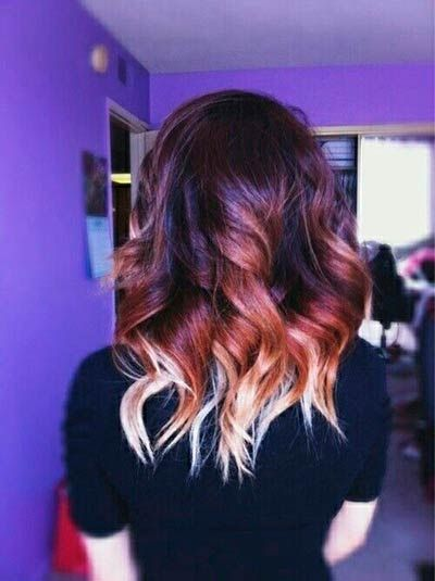New Stylish Ombre Hair Highlights to Try  #hairstyles #ombrehair #hairhighlights