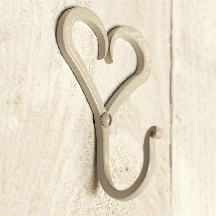 A beautiful and #decorative #forged #heart #hook. This will add sweet #modern #country #charm to your home.